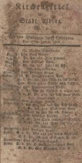 Kirchenzettel der Stadt Elbing, Nr. 4, 17 Januar 1808