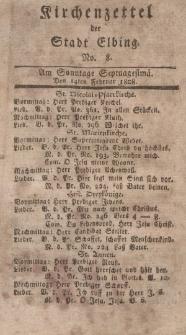 Kirchenzettel der Stadt Elbing, Nr. 8, 14 Februar 1808