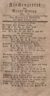 Kirchenzettel der Stadt Elbing, Nr. 10, 28 Februar 1808