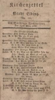 Kirchenzettel der Stadt Elbing, Nr. 12, 13 März 1808