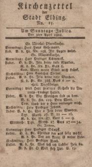 Kirchenzettel der Stadt Elbing, Nr. 15, 3 April 1808