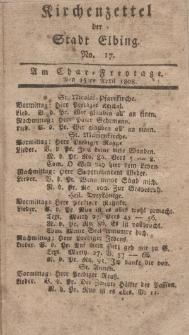 Kirchenzettel der Stadt Elbing, Nr. 17, 15 April 1808