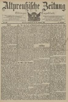 Altpreussische Zeitung, Nr. 296 Donnerstag 18 Dezember 1902, 54. Jahrgang
