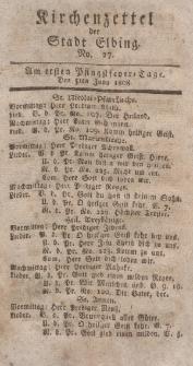Kirchenzettel der Stadt Elbing, Nr. 27, 5 Juni 1808