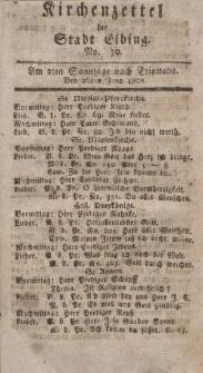 Kirchenzettel der Stadt Elbing, Nr. 30, 26 Juni 1808