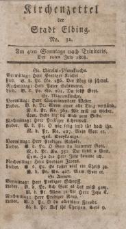 Kirchenzettel der Stadt Elbing, Nr. 32, 10 Juli 1808