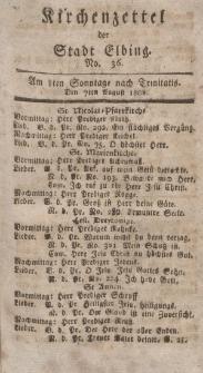 Kirchenzettel der Stadt Elbing, Nr. 36, 7 August 1808