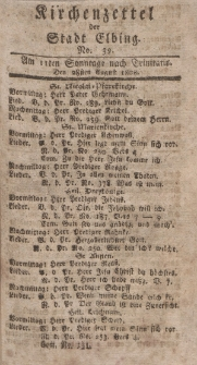 Kirchenzettel der Stadt Elbing, Nr. 39, 28 August 1808