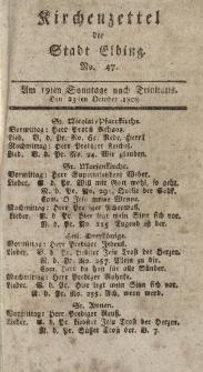 Kirchenzettel der Stadt Elbing, Nr. 47, 23 Oktober 1808