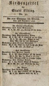 Kirchenzettel der Stadt Elbing, Nr. 53, 4 Dezember 1808