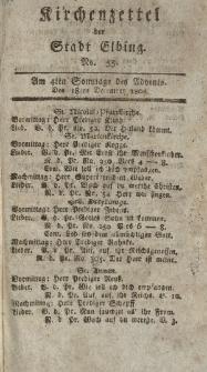 Kirchenzettel der Stadt Elbing, Nr. 55, 18 Dezember 1808