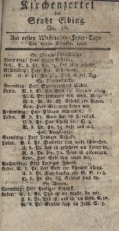 Kirchenzettel der Stadt Elbing, Nr. 56, 25 Dezember 1808