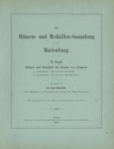 Die Münzen- und Medaillen-Sammlung in der Marienburg, Band 2