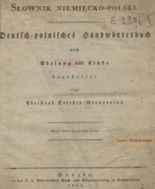 Słownik niemiecko-polski= Deutsch-polnisches Handwörterbuch