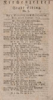 Kirchenzettel der Stadt Elbing, Nr. 3, 14 Januar 1824