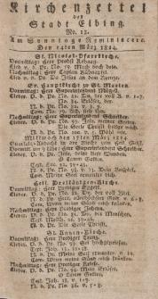 Kirchenzettel der Stadt Elbing, Nr. 12, 14 März 1824