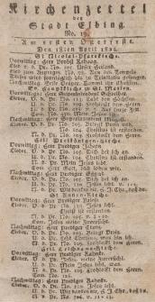 Kirchenzettel der Stadt Elbing, Nr. 19, 18 April 1824