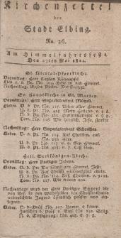 Kirchenzettel der Stadt Elbing, Nr. 26, 27 Mai 1824