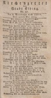 Kirchenzettel der Stadt Elbing, Nr. 27, 30 Mai 1824