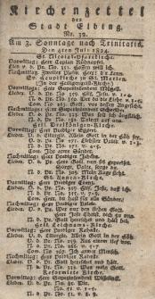 Kirchenzettel der Stadt Elbing, Nr. 32, 4 Juli 1824