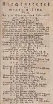Kirchenzettel der Stadt Elbing, Nr. 33, 11 Juli 1824