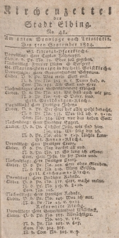 Kirchenzettel der Stadt Elbing, Nr. 41, 5 September 1824