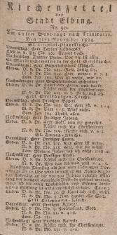 Kirchenzettel der Stadt Elbing, Nr. 50, 7 November 1824
