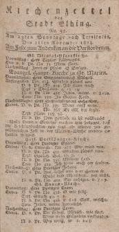 Kirchenzettel der Stadt Elbing, Nr. 52, 21 November 1824