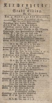 Kirchenzettel der Stadt Elbing, Nr. 56, 19 Dezember 1824