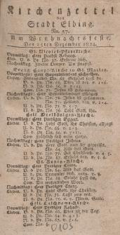Kirchenzettel der Stadt Elbing, Nr. 57, 25 Dezember 1824