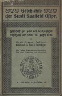 Geschichte der Stadt Saalfeld Ostpr.