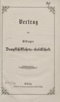Vertrag der Elbinger Dampfschifffahrts-Gesellschaft