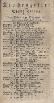 Kirchenzettel der Stadt Elbing, Nr. 6, 6 Februar 1825