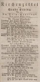Kirchenzettel der Stadt Elbing, Nr. 13, 27 März 1825