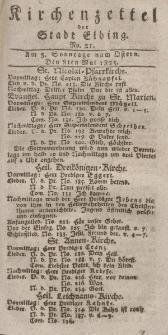 Kirchenzettel der Stadt Elbing, Nr. 21, 8 Mai 1825