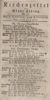 Kirchenzettel der Stadt Elbing, Nr. 32, 17 Juli 1825