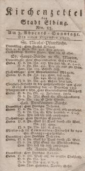 Kirchenzettel der Stadt Elbing, Nr. 53, 11 Dezember 1825