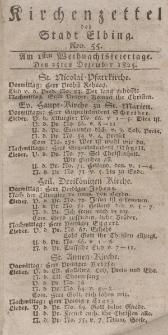Kirchenzettel der Stadt Elbing, Nr. 55, 25 Dezember 1825