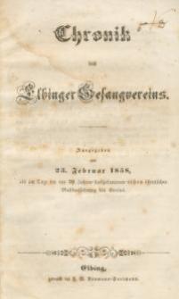 Chronik des Elbinger Gesangvereins