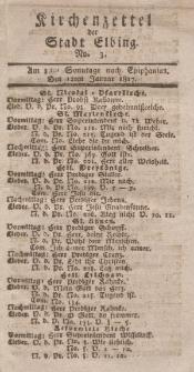 Kirchenzettel der Stadt Elbing, Nr. 3, 12 Januar 1817