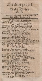 Kirchenzettel der Stadt Elbing, Nr. 5, 26 Januar 1817