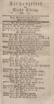Kirchenzettel der Stadt Elbing, Nr. 11, 9 März 1817