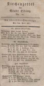 Kirchenzettel der Stadt Elbing, Nr. 16, 6 April 1817