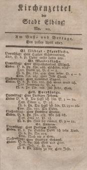 Kirchenzettel der Stadt Elbing, Nr. 20, 30 April 1817
