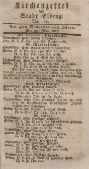 Kirchenzettel der Stadt Elbing, Nr. 21, 4 Mai 1817