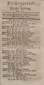 Kirchenzettel der Stadt Elbing, Nr. 31, 6 Juli 1817