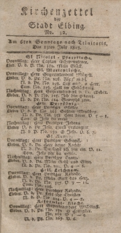 Kirchenzettel der Stadt Elbing, Nr. 32, 13 Juli 1817