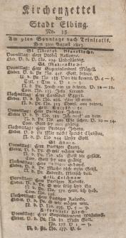 Kirchenzettel der Stadt Elbing, Nr. 35, 3 August 1817