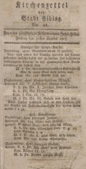 Kirchenzettel der Stadt Elbing, Nr. 48, 31 Oktober 1817