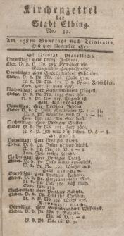 Kirchenzettel der Stadt Elbing, Nr. 49, 9 November 1817
